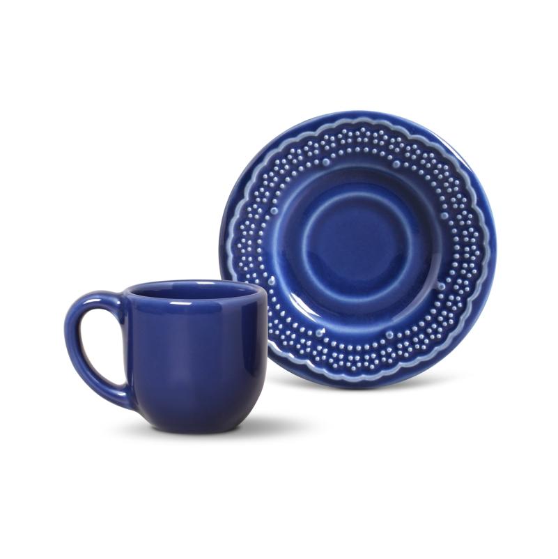 Madeleine Azul Navy - Aparelho de Jantar 42 Peças (6 Pessoas)