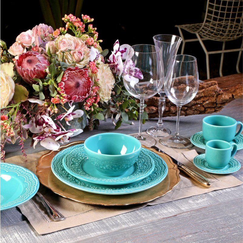 Madeleine Azul Poppy - Aparelho de Jantar 20 Peças (4 Pessoas)