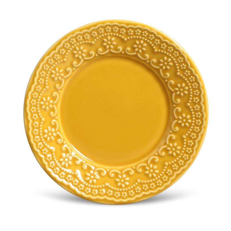 Madeleine Mostarda - Aparelho de Jantar 20 Peças (4 Pessoas)