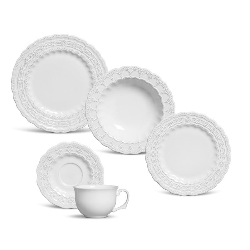 Peniche Branco - Aparelho de Jantar 30 Peças (6 Pessoas)