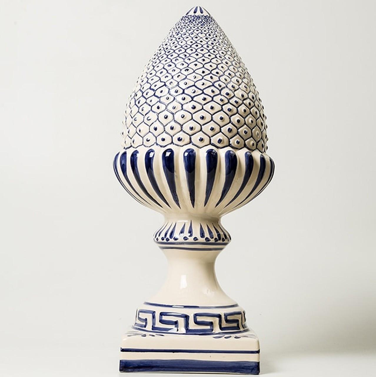Pinha Média c/ Pintura Tradicional Portuguesa Pintado à Mão - 55 cm - LS