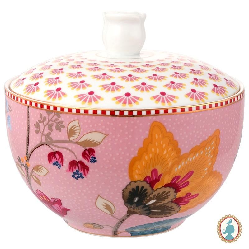 Pote p/ Algodão Rosa - Floral Fantasy