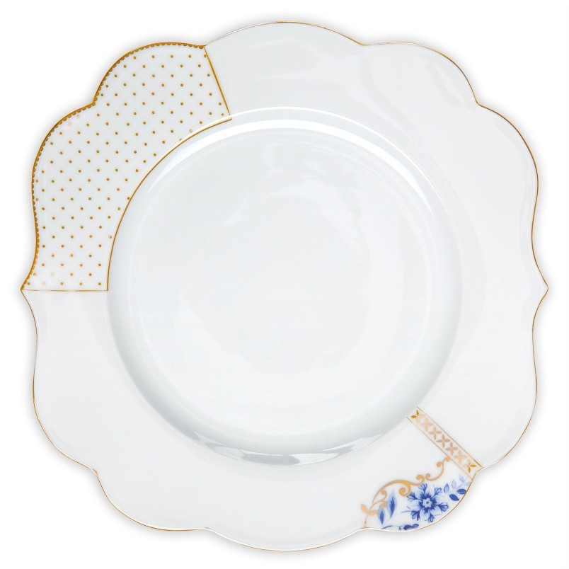 Prato Raso Flowers - Royal White