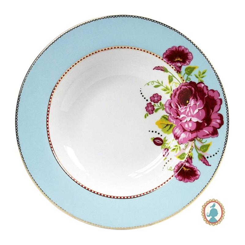 Prato de Massa Azul Floral Pip Studio