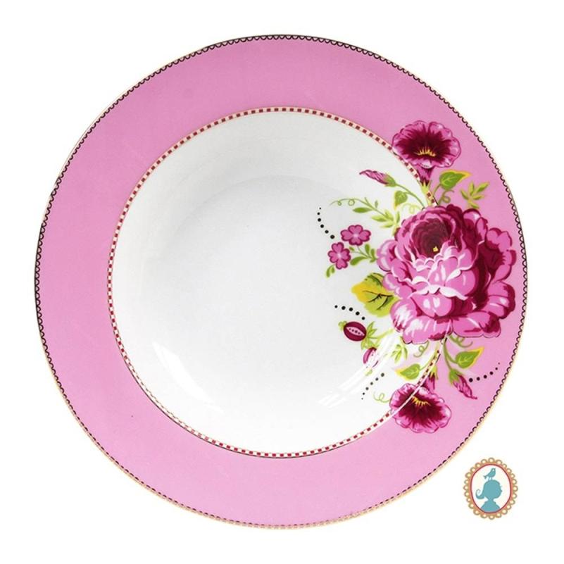 Prato de Massa Rosa Floral Pip Studio