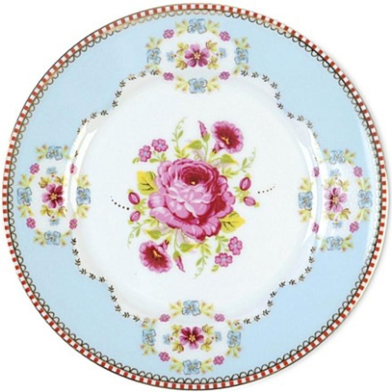 Prato de Pão Azul Floral Pip Studio