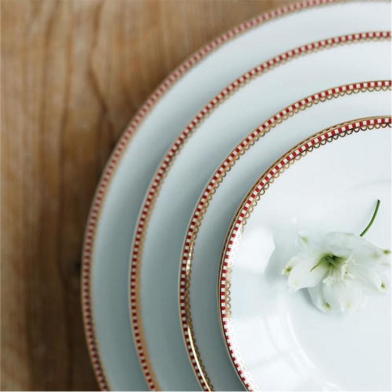 Prato de Pão Branco - Floral