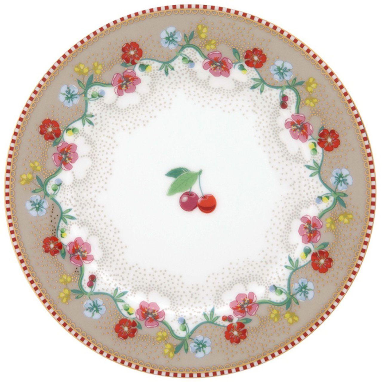 Prato de Pão Cherry Cáqui - Floral - Pip Studio