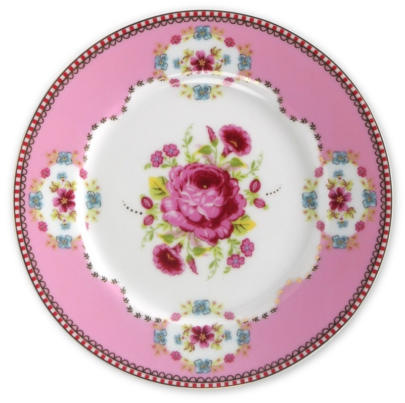 Prato de Pão Rosa Floral Pip Studio
