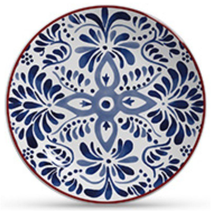 Prato Sobremesa Aquarelle Azul (6 Unidades)