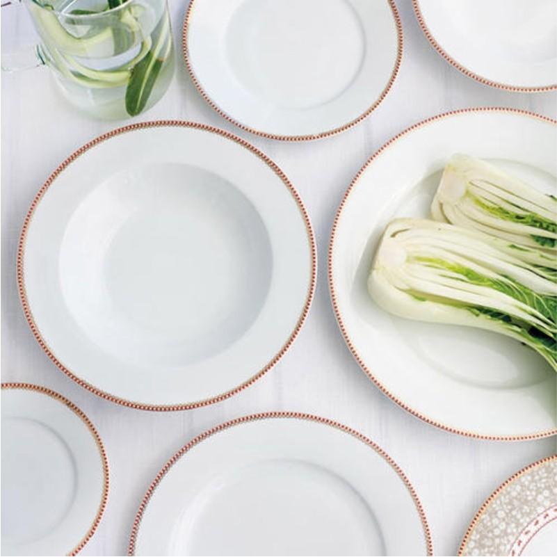 Prato Sobremesa Branco - Floral