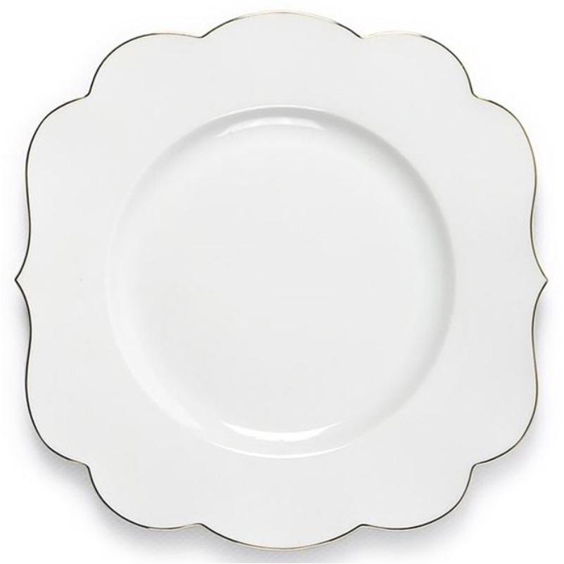 Prato Sobremesa Royal White
