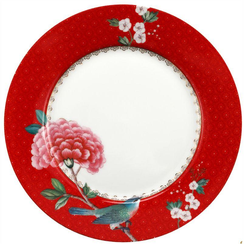 Prato de Sobremesa Vermelho - Blushing Birds - Pip Studio