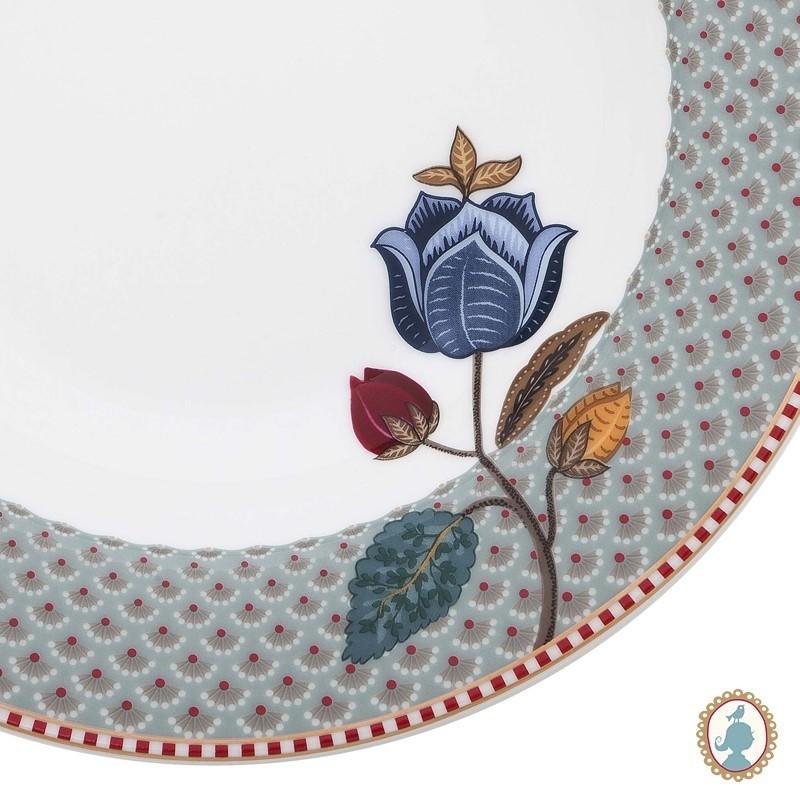 Prato Fundo Azul Fantasy - Floral Fantasy