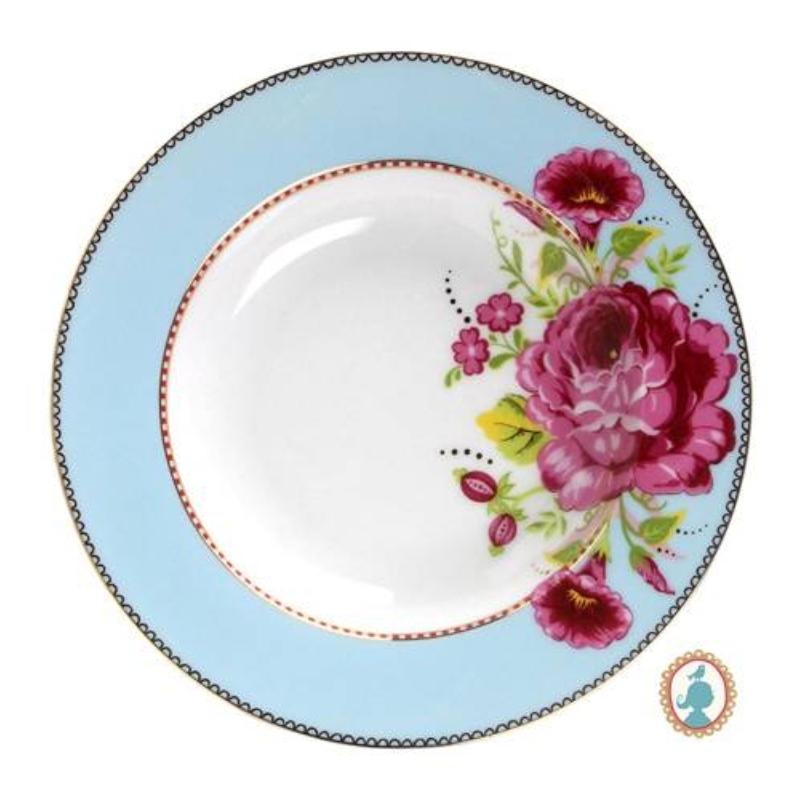 Prato Fundo Azul Floral Pip Studio