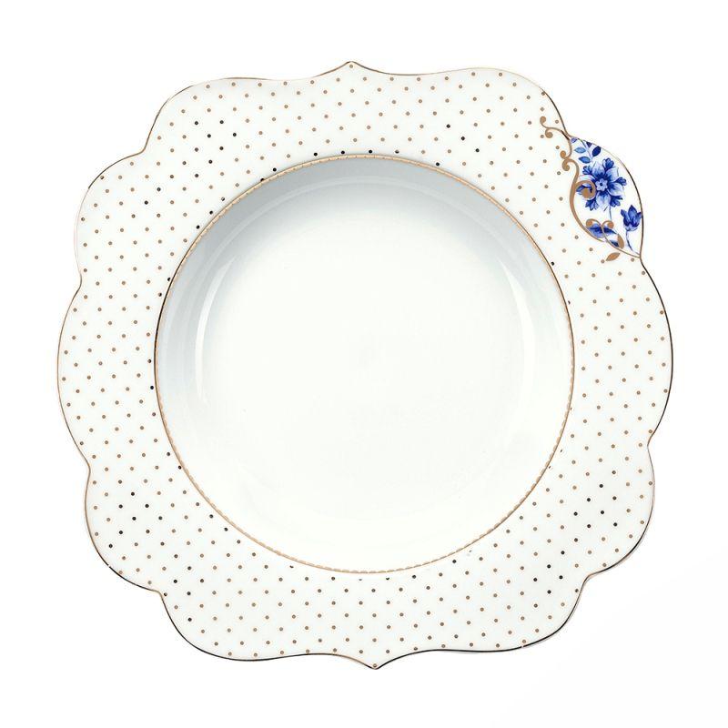 Prato Fundo Flowers - Royal White