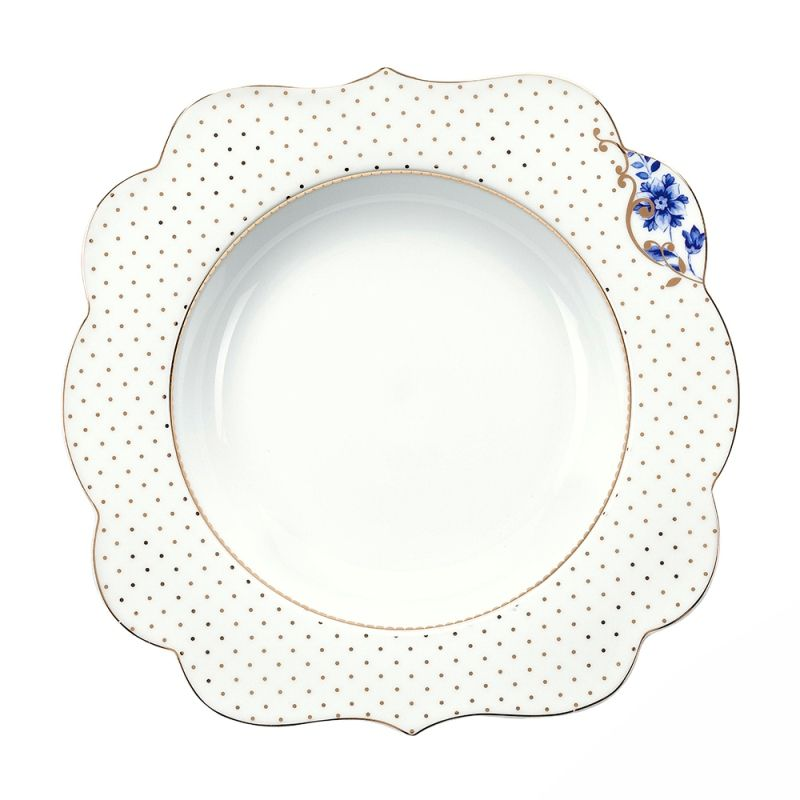 Prato Fundo Flowers - Royal White