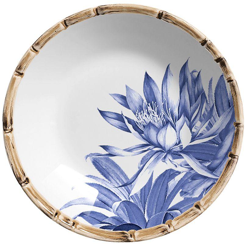 Prato Fundo Abacaxi Azul Royal (06 Unidades)