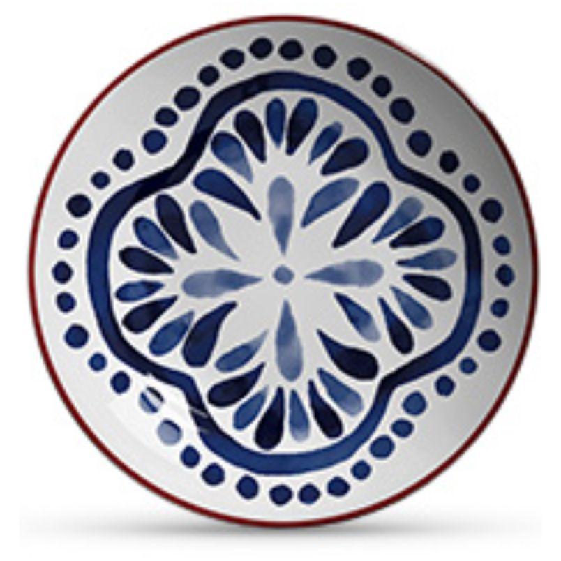 Prato Fundo Aquarelle Azul (06 Unidades)