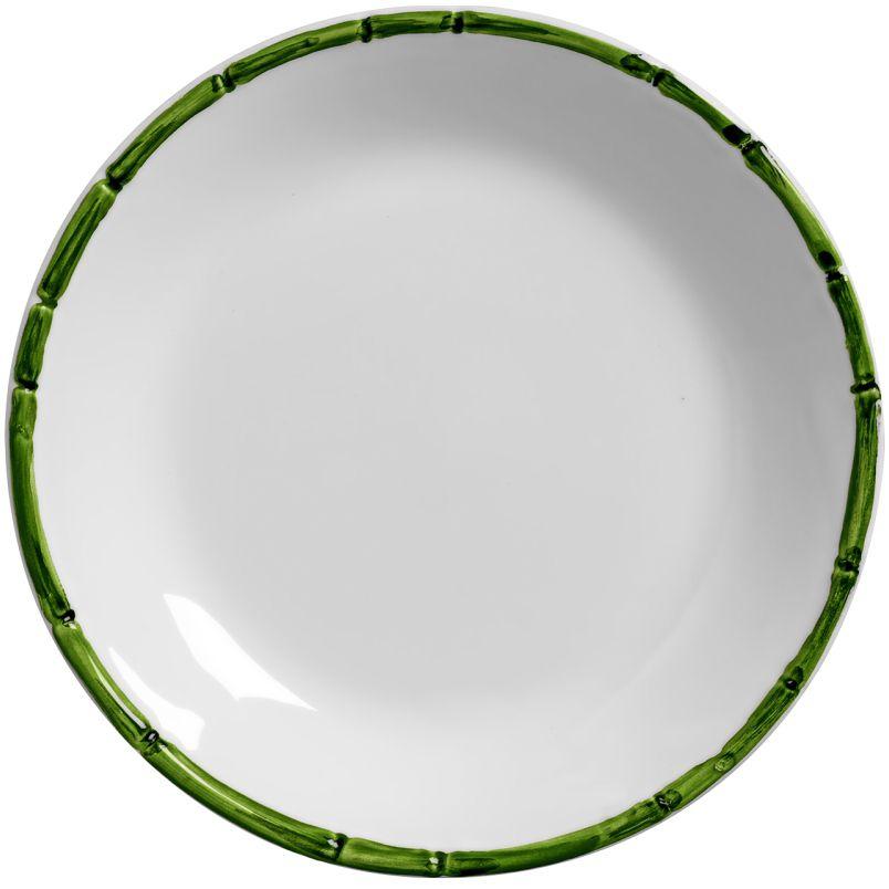 Prato Fundo Bambu Colorido Verde (06 Unidades)