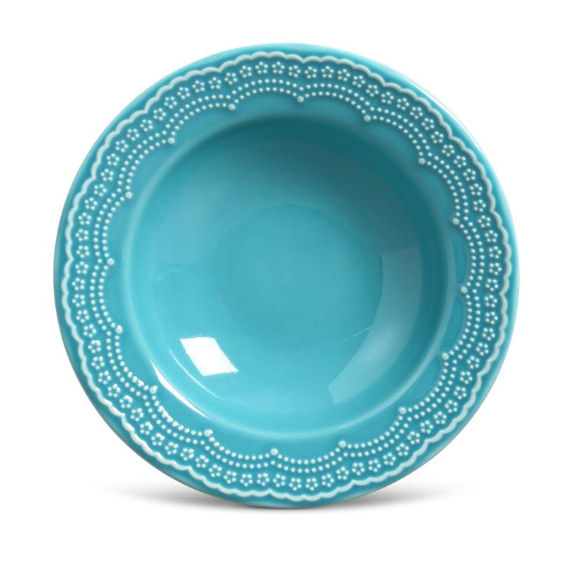 Prato Fundo Madeleine Azul Poppy 22cm (6 Unidades)