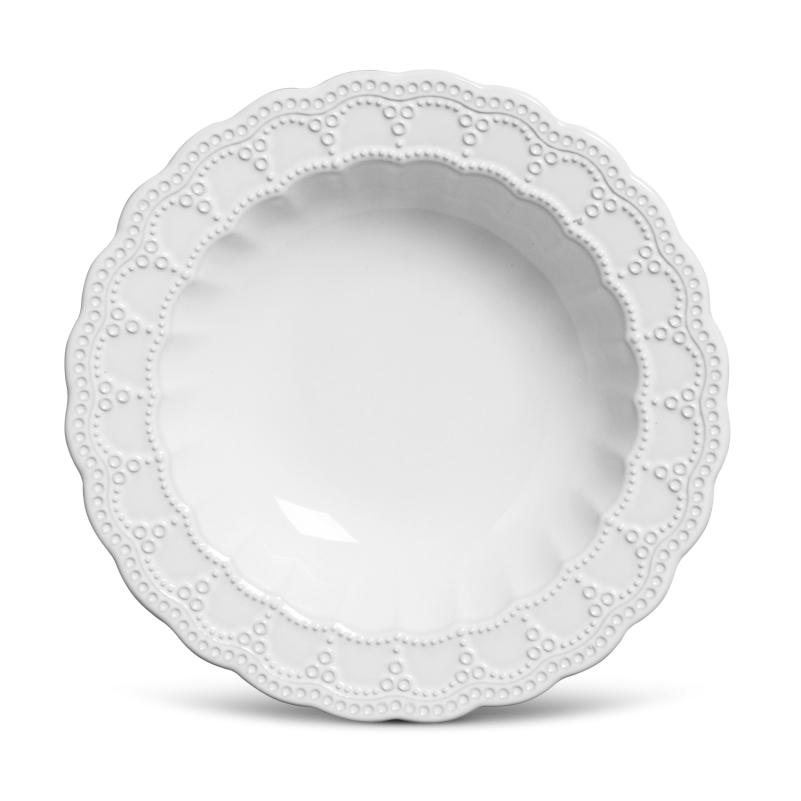 Prato Fundo Peniche Branco 22cm (6 Unidades)