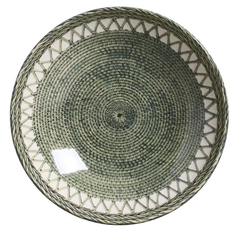 Prato Fundo Pineapple Green 22cm (6 Unidades)
