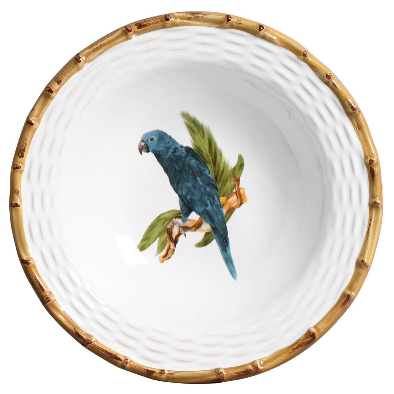 Prato Fundo Tropical Birds (06 Unidades) Cód.: 6060 - MB