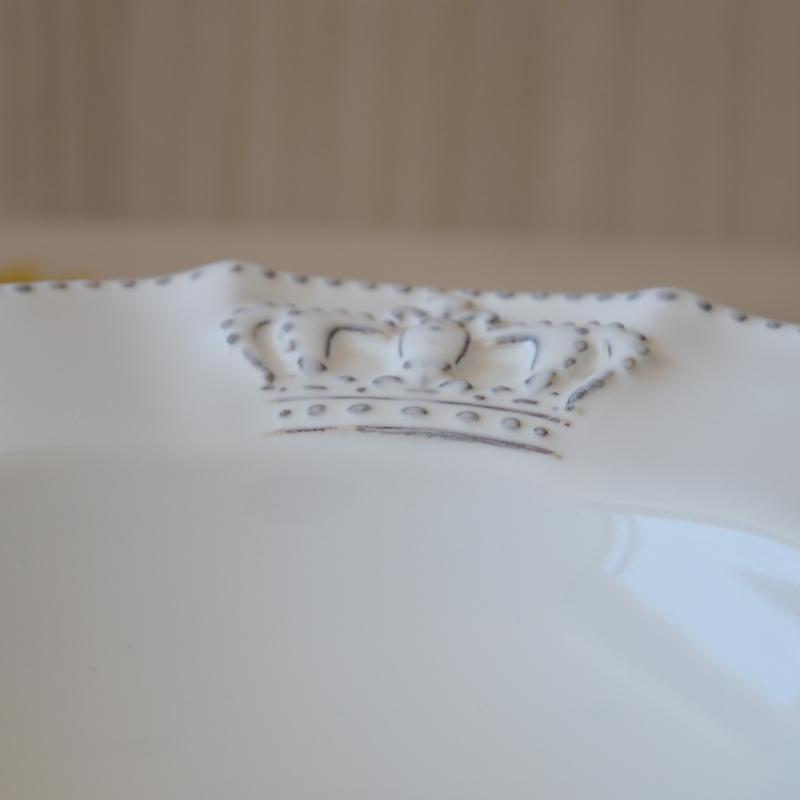 Prato Fundo Windsor Branco 22cm (6 Unidades)