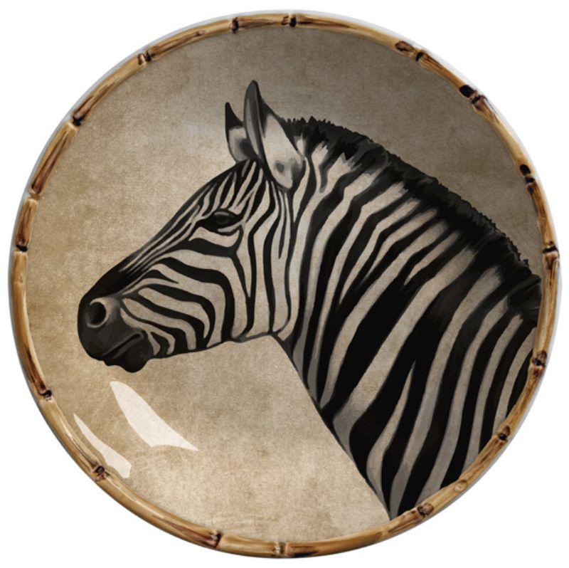 Prato Fundo Zebra (6 Unidades)