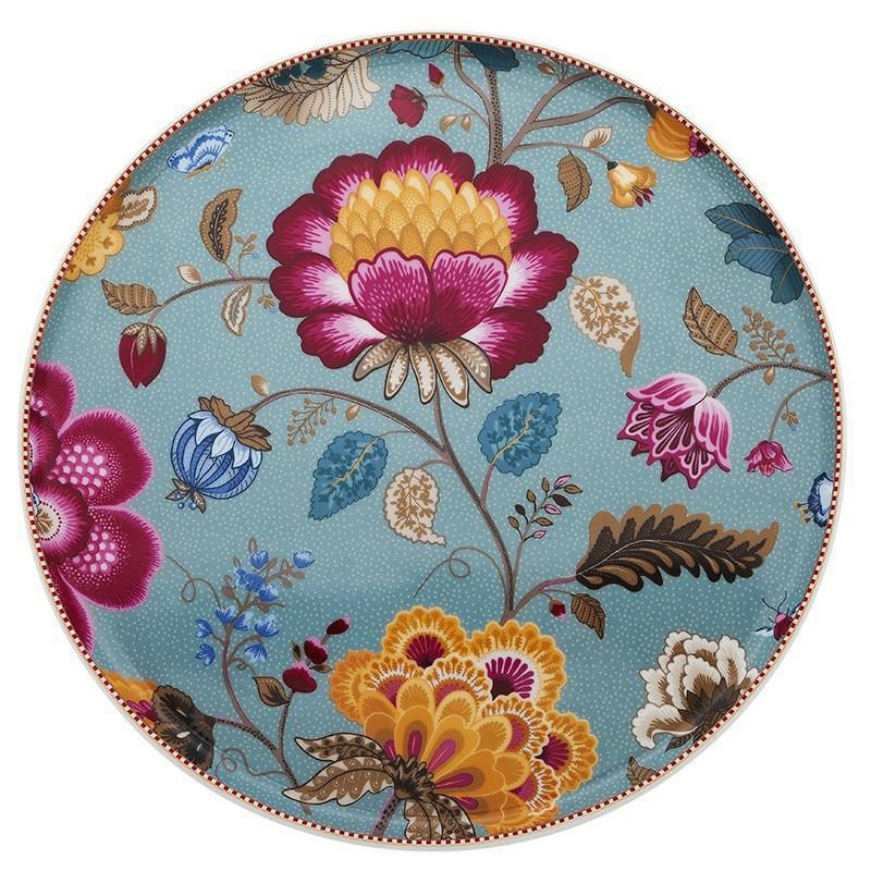 Prato p/ Bolo Azul - Floral Fantasy - Pip Studio