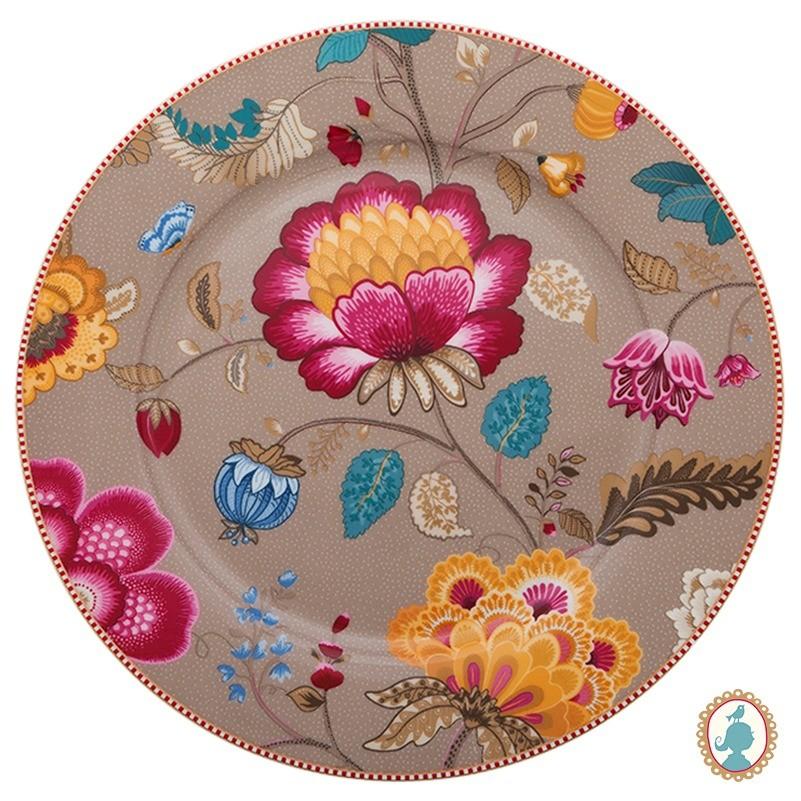Prato p/ Bolo Cáqui - Floral Fantasy - Pip Studio