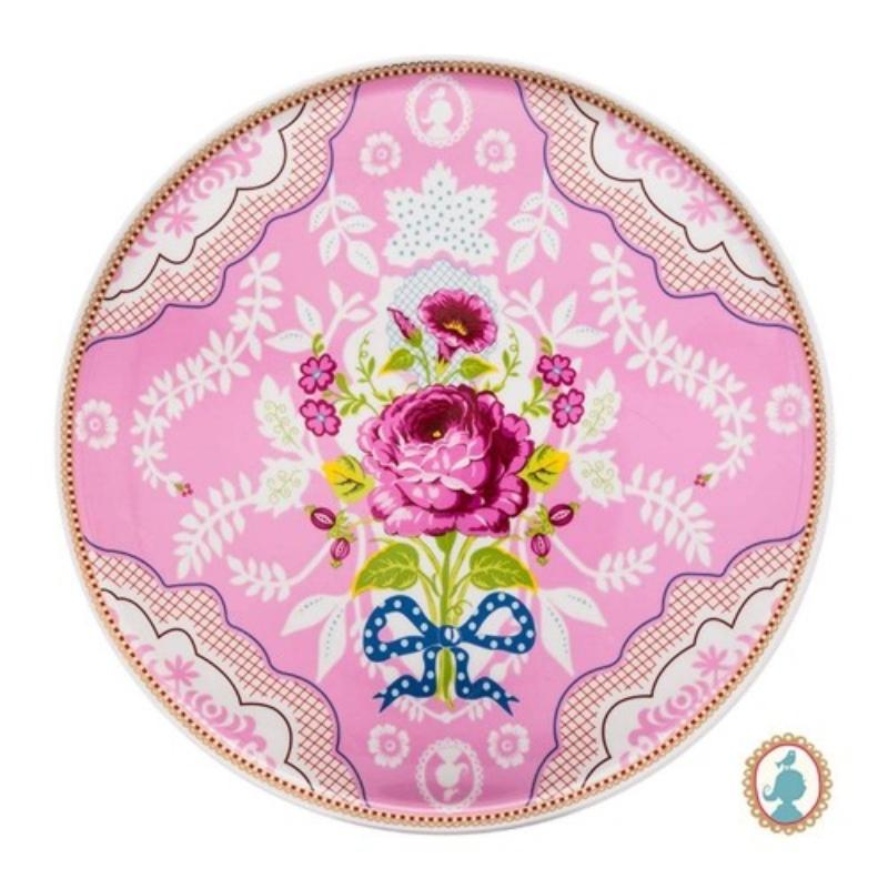 Prato para Bolo Rosa Floral Pip Studio