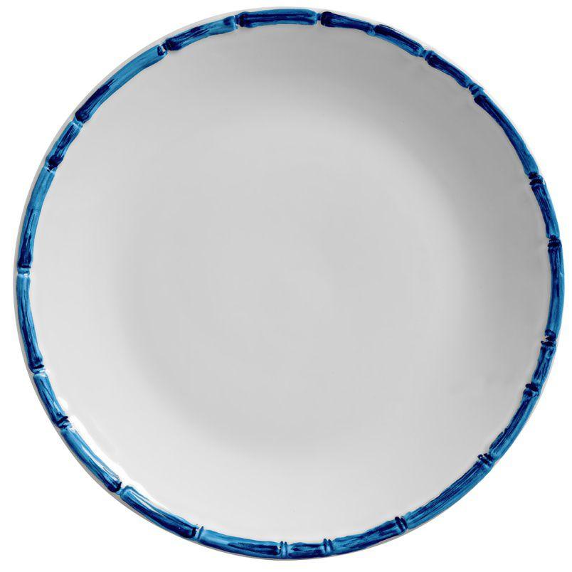 Prato de Pão Bambu Colorido Azul (6 Unidades)