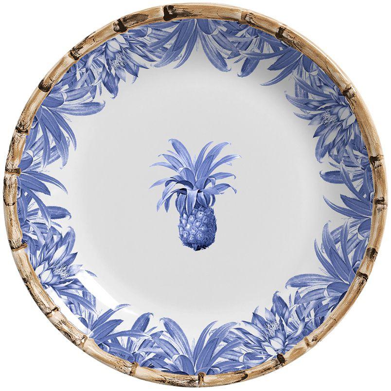 Prato Raso Abacaxi Azul Royal (6 Unidades)