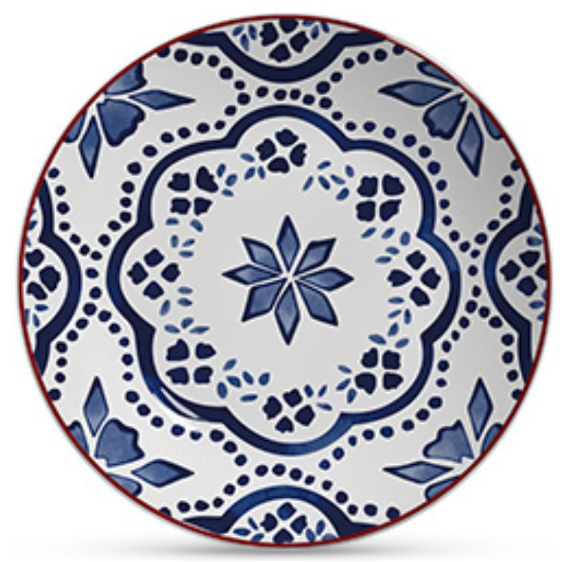 Prato Raso Aquarelle Azul (6 Unidades)