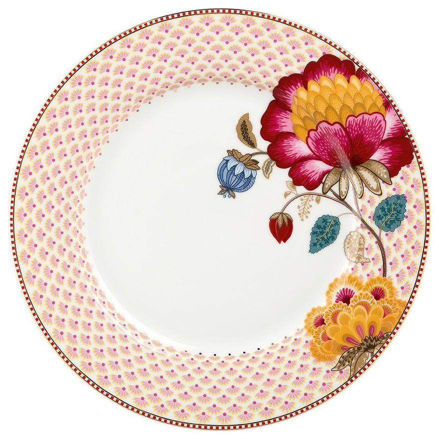 Prato Raso Branco Fantasy - Floral Fantasy - Pip Studio