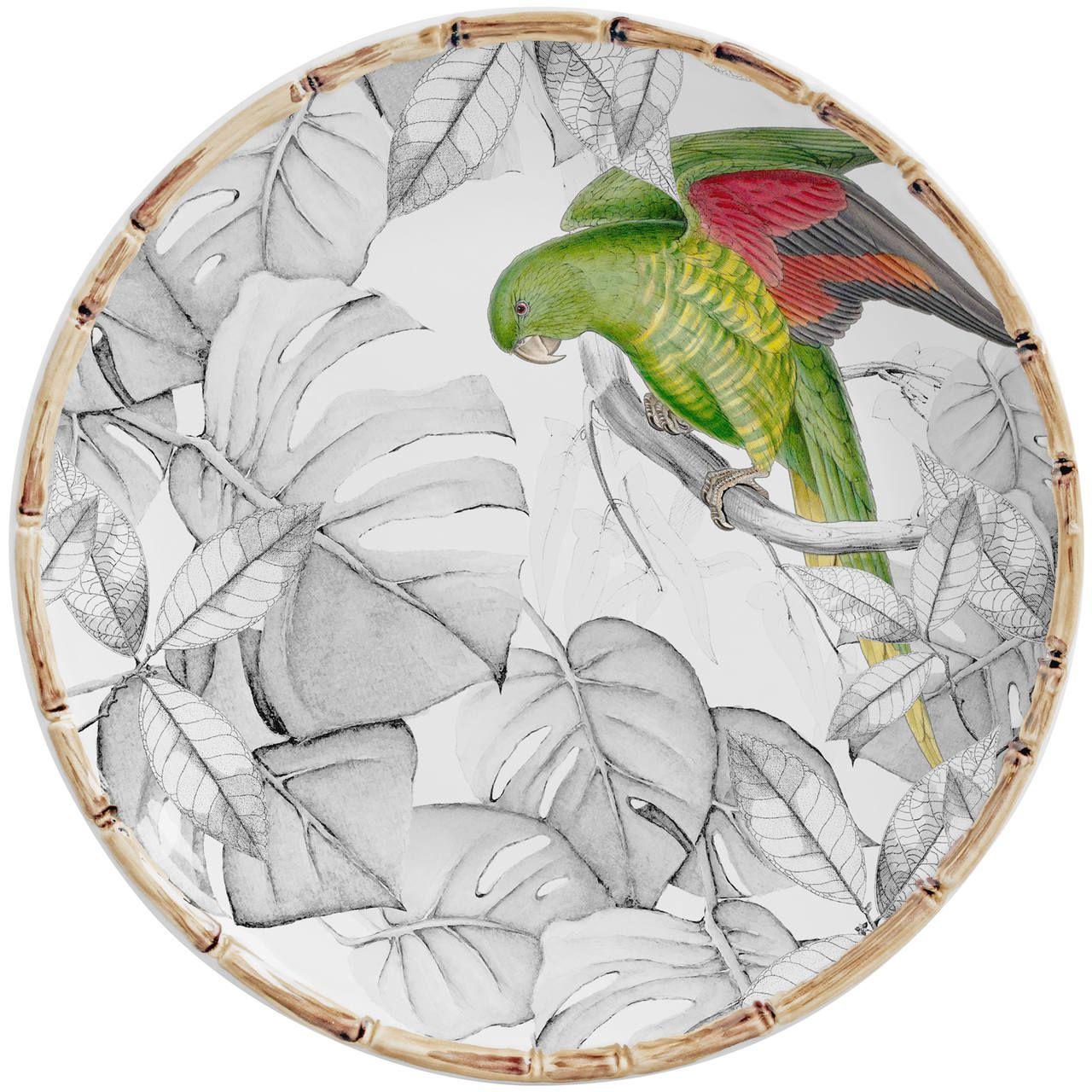 Prato Raso Colorfull Birds (06 Unidades) Cód.: 7811 - MB
