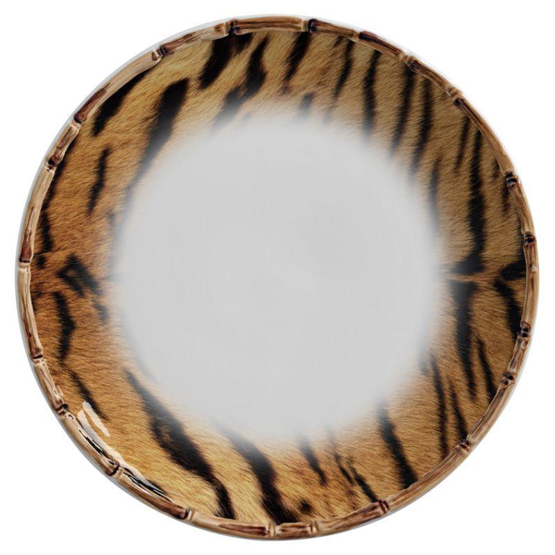 Prato Raso Fauna Tigre (06 Unidades) - MB