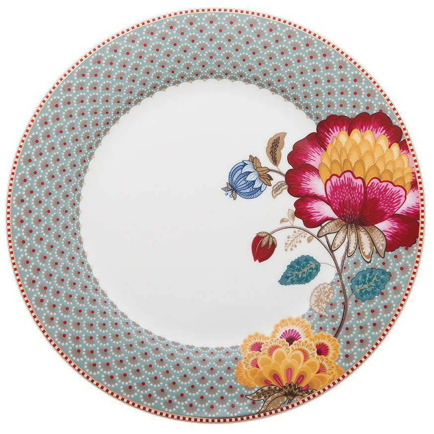 Prato Raso Floral Fantasy Azul - Pip Studio - Pip Studio