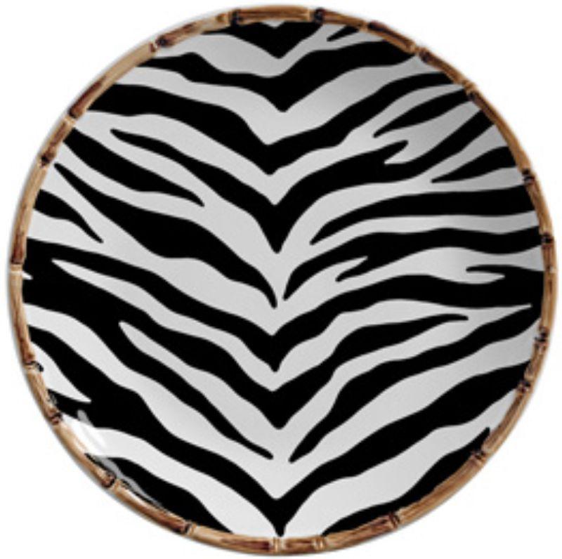 Prato Raso Forest Estampa Zebra (6 Unidades)