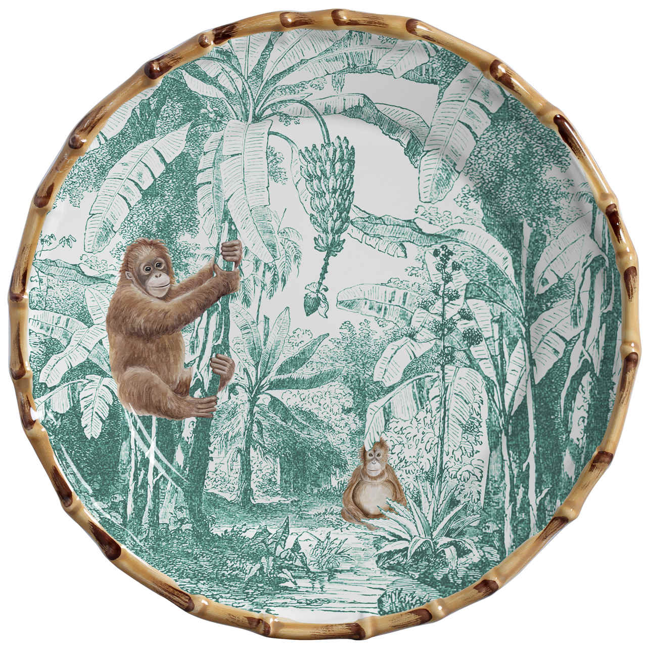Prato Raso Macaco African Toile (06 Unidades) Cód.: 6101 - MB
