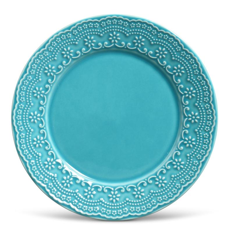 Prato Raso Madeleine Azul Poppy 26cm (6 Unidades)