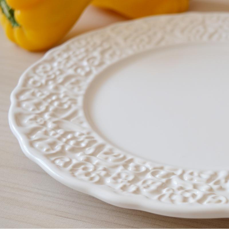 Prato Raso Marrakesh Branco 27cm (6 Unidades)