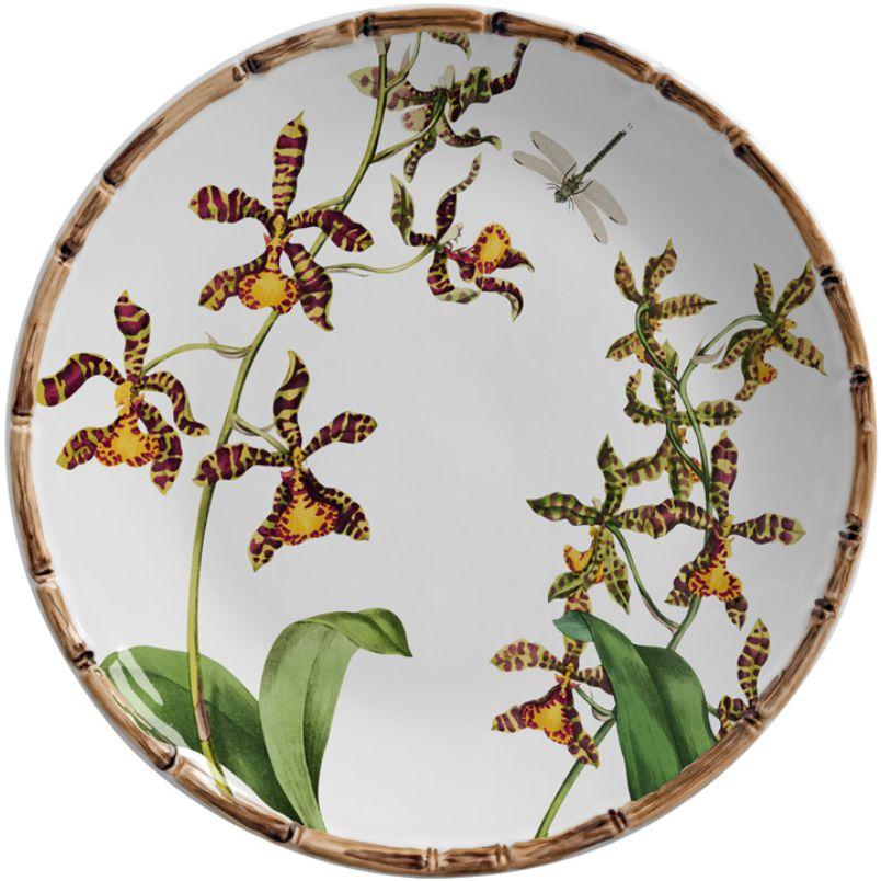 Prato Raso Orquídeas (6 Unidades)