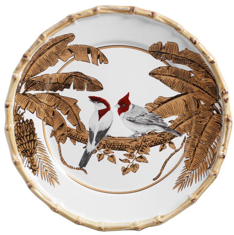 Prato Raso Pássaros Golden Forest (06 Unidades) - MB
