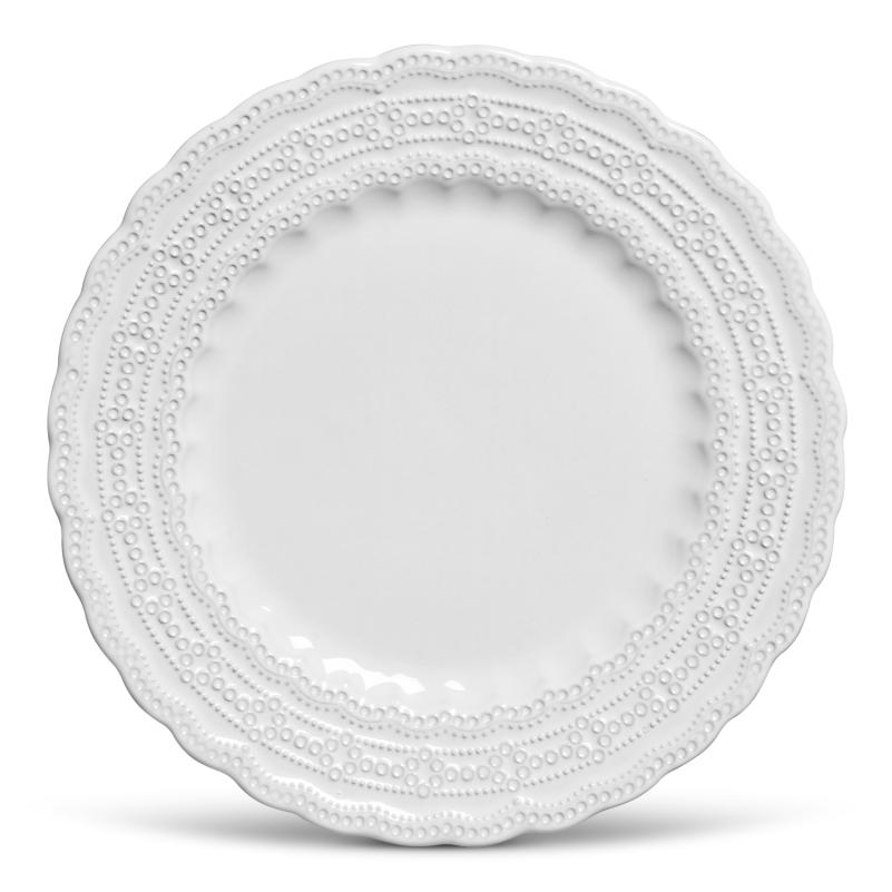 Prato Raso Peniche Branco 27cm (6 Unidades)