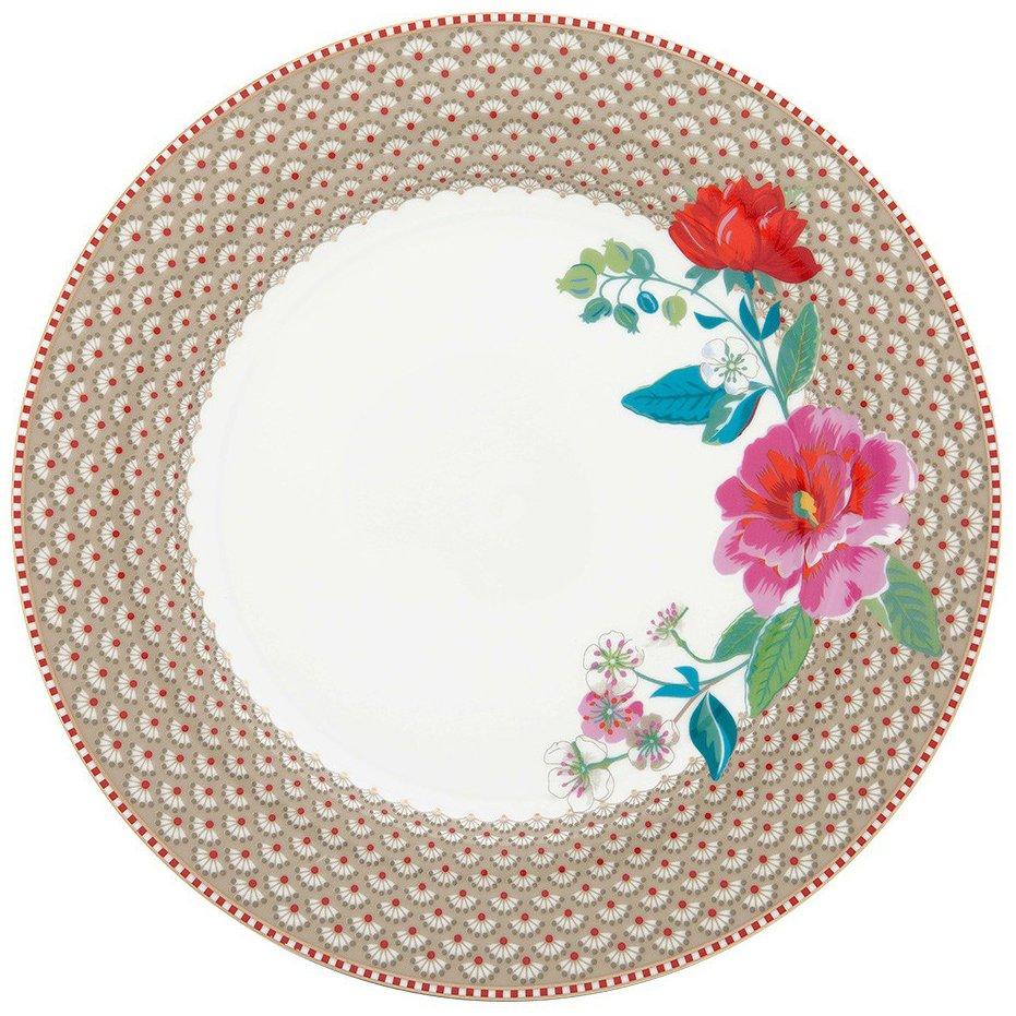 Prato Raso Rose Cáqui - Floral - Pip Studio