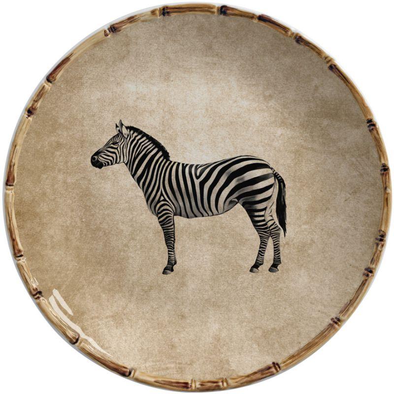 Prato Raso Zebra (6 Unidades)
