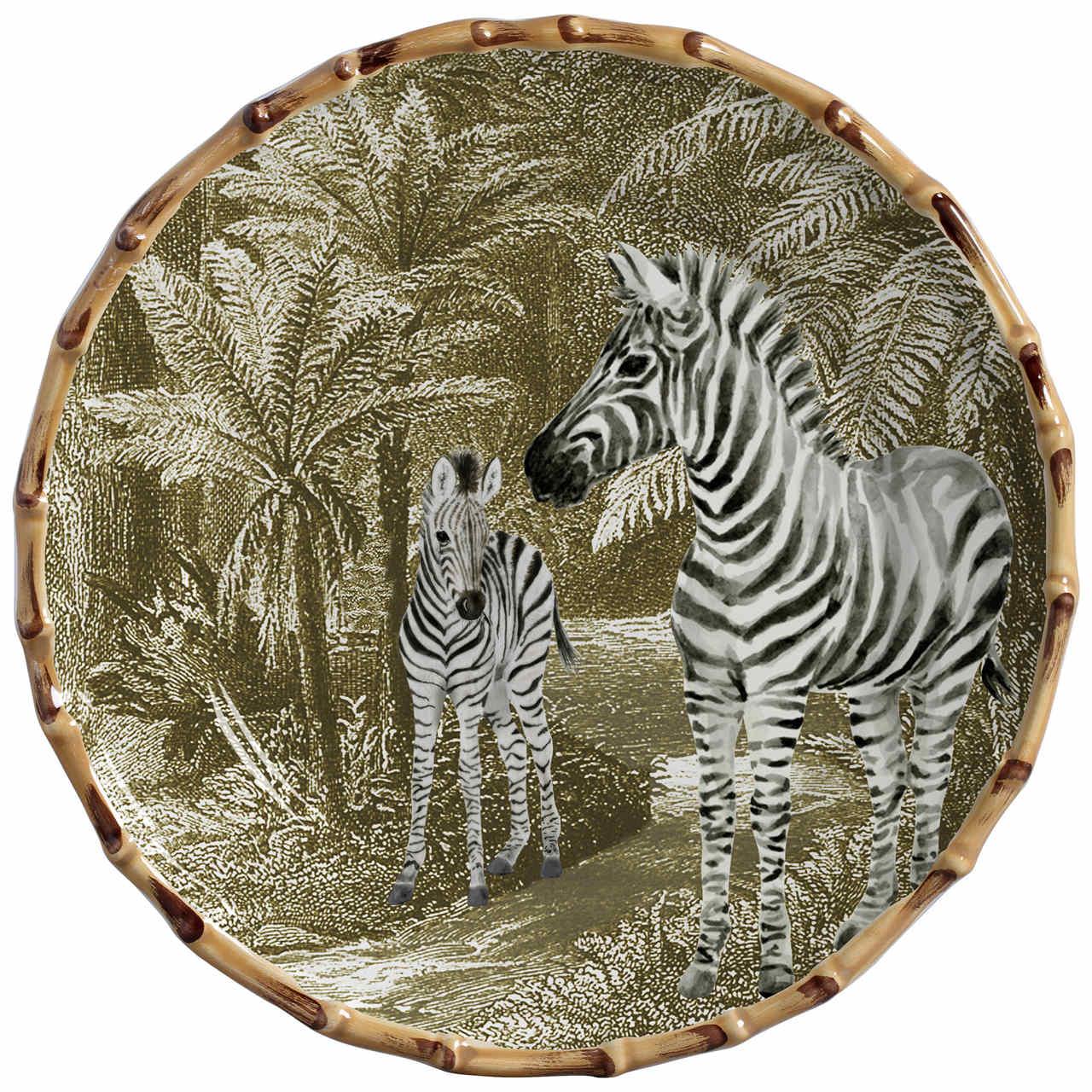 Prato Raso Zebra African Toile (06 Unidades) - MB